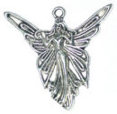 Fairy Charm in Antique Silver Pewter Small Angel Charm