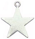 Star Charm in Antique Silver Pewter Plain