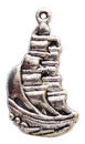 Sailing Ship Charm in Antique Silver Pewter Nautical Charm