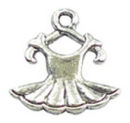 Ballet Charm of Tutu in Antique Silver Pewter Dance Charm