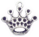 Crown Charm in Antique Silver Pewter Princess Charm