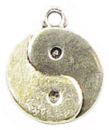 Yin Yang Charm Antique Silver Pewter Symbol Charms