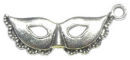 Mardi Gras Mask Charm in Antique Silver Pewter Ladies Charms
