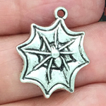 Spider Charm in Antique Silver Pewter Halloween Charms