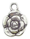 Rose Charm Antique Silver Pewter Small Flower Charm