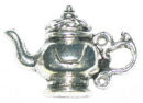 Teapot Charm Antique Silver Pewter