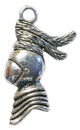 Knight Charm Pendant in Antique Silver Pewter