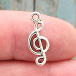 Treble Clef Note Music Charm Silver Pewter