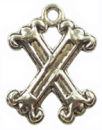 Initial Charm Antique Silver Pewter X Letter Charm