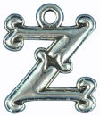 Initial Charm Antique Silver Pewter Z Letter Charm