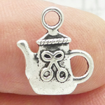 Silver Teapot Charms Wholesale in Pewter