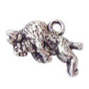 Buffalo Charm in Antique Silver Pewter Small