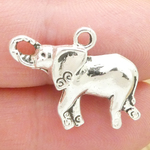 Elephant Charms in Bulk Antique Silver Pewter Small