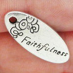 Faithfulness Charm in Antique Silver Pewter