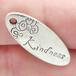 Kindness Charms in Bulk in Antique Silver Pewter