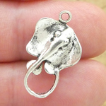 Stingray Charm in Antique Silver Pewter
