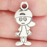 Boy Charms Wholesale in Antique Silver Pewter