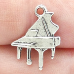 Grand Piano Charm in Antique Silver Pewter