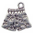 Underwear Charm in Antique Silver Pewter Ladies Charms