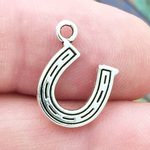 Horseshoe Charm Antique Silver Pewter