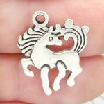 Pony Charm Antique Silver Pewter
