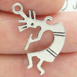 Indian Kokopelli Charms Wholesale in Antique Silver Pewter