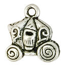 Cinderella Pumpkin Carriage Charm in Antique Silver Pewter