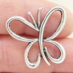 Outline Butterfly Charm Silver Pewter