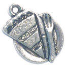 Slice of Pie Charm in Antique Silver Pewter