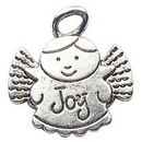 Angel Charm of Joy in Antique Silver Pewter