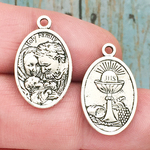 Holy Family Medals Wholesale in Antique Silver Pewter