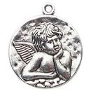 Raphael Angel Charm in Antique Silver Pewter