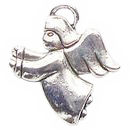 Flying Angel Charm in Antique Silver Pewter