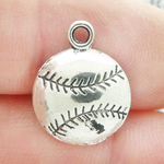 Baseball Charms Wholesale Antique Silver Pewter