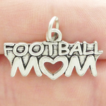 Football Mom Charms Wholesale Antique Silver Pewter