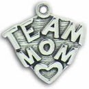 Mom Team Charm Antique Silver Pewter