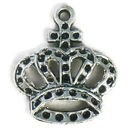 King's Crown Charm in Antique Silver Pewter
