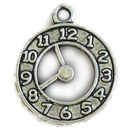 Face of Clock Charm in Antique Silver Pewter