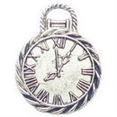 Pocket Watch Charm in Antique Silver Pewter