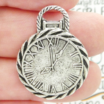 Pocket Watch Charms Bulk in Antique Silver Pewter