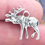 Moose Charm Silver Pewter
