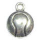 Tennis Ball Charm in Antique Silver Pewter