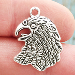 Falcon Charm Silver Pewter