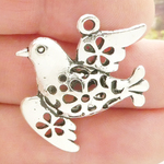 Peace Dove Pendants Wholesale in Antique Silver Pewter