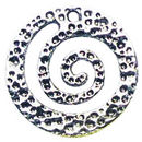 Spiral Charm in Antique Silver Pewter Medium
