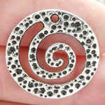 Spiral Silver Charms in Antique Pewter