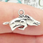 Razorback Charms Wholesale in Silver Pewter Small