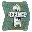 Faith Cross Charm for Bead Stringing Bracelet Sliders in Pewter
