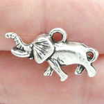 Elephant Charms Bulk in Antique Silver Pewter Small