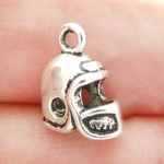 Football Helmet Charms Bulk in Antique Silver Pewter